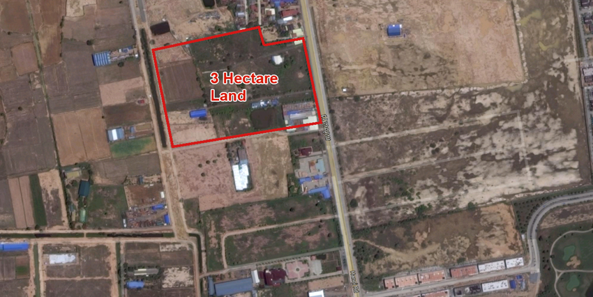 Grand PP Golf Course | 3 Hect Land on Hanoi Rd