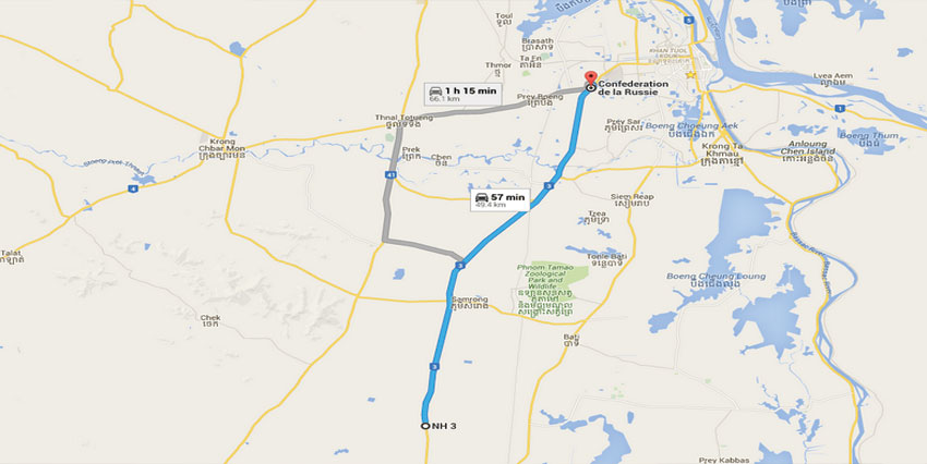National Road No.3 Land 10Ha   49km from Airport
