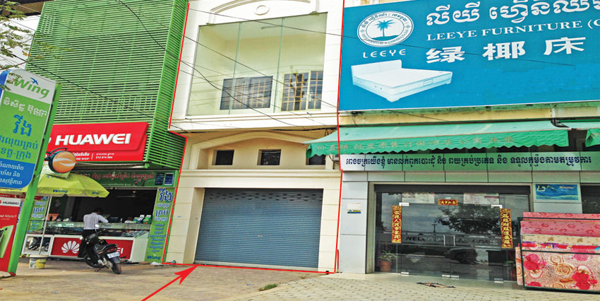 In front of Airport   Shop House For Sale